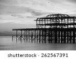 Remains Of Brighton Pier Left...
