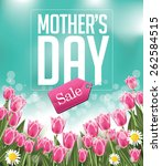 mothers day sale background eps ...   Shutterstock .eps vector #262584515