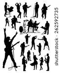 music silhouettes set | Shutterstock .eps vector #262592735
