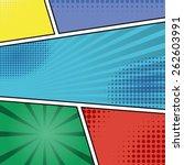 comics pop art style blank... | Shutterstock . vector #262603991