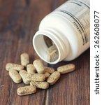 vitamin pills. selective focus  ...   Shutterstock . vector #262608077
