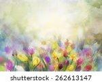 Watercolor Flowers Painting...