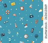 illustration of vector travel... | Shutterstock .eps vector #262613369
