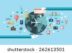 vector illustration of flat... | Shutterstock .eps vector #262613501