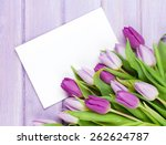 Purple Tulip Bouquet And Blank...