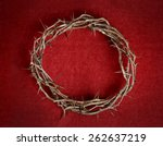 Crown Of Thorns On Red...