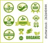 12 ecological green vector... | Shutterstock .eps vector #262640444