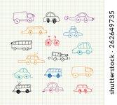 cars doodles set | Shutterstock .eps vector #262649735