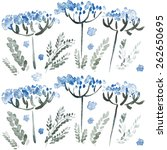 vintage watercolor pattern with ...   Shutterstock .eps vector #262650695