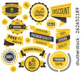 yellow badges ribbons and... | Shutterstock .eps vector #262652189