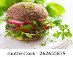 healthy fast food. vegan rye... | Shutterstock . vector #262655879