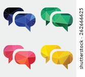conversation icon abstract...
