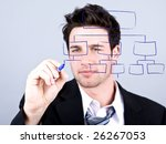 business man drawing out an... | Shutterstock . vector #26267053