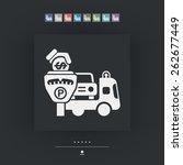 wrecker parking area | Shutterstock .eps vector #262677449