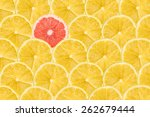 one pink grapefruit slice stand ... | Shutterstock . vector #262679444