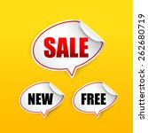 collection of sale free new tag ... | Shutterstock .eps vector #262680719