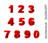collection of numbers isolated... | Shutterstock .eps vector #262681097