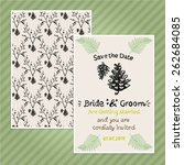 double sided vintage invitation ... | Shutterstock .eps vector #262684085
