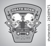 motorcycle badge | Shutterstock .eps vector #262689671