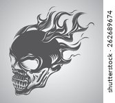 skull on fire | Shutterstock .eps vector #262689674
