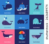 collection of vector whale... | Shutterstock .eps vector #262689974