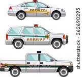 three variants of the police... | Shutterstock .eps vector #262690295