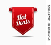 hot deals red vector icon design | Shutterstock .eps vector #262694501