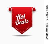 hot deals red vector icon design   Shutterstock .eps vector #262694501