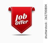 job offer red vector icon design | Shutterstock .eps vector #262700804