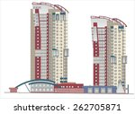 buildings and structures of the ... | Shutterstock . vector #262705871