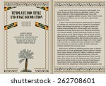template booklet in vintage... | Shutterstock .eps vector #262708601