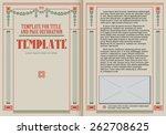 template booklet in vintage... | Shutterstock .eps vector #262708625