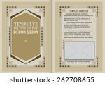 template booklet in vintage... | Shutterstock .eps vector #262708655