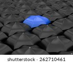 unique blue umbrella with many... | Shutterstock . vector #262710461