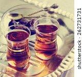 arabic sweet and tea still life ...   Shutterstock . vector #262731731
