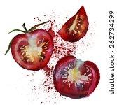 tomatoes | Shutterstock .eps vector #262734299