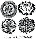 set mandalas. round ornament...   Shutterstock .eps vector #262742441