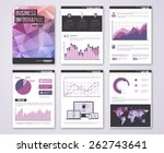 set of vector poster templates... | Shutterstock .eps vector #262743641