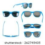 blue sun glasses isolated over... | Shutterstock . vector #262745435