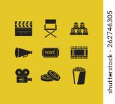 flat icons on the theme of... | Shutterstock .eps vector #262746305