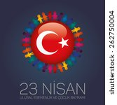april 23  national sovereignty... | Shutterstock .eps vector #262750004