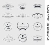 vintage logo set   retro design ... | Shutterstock .eps vector #262750991