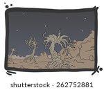 art scene comic | Shutterstock .eps vector #262752881