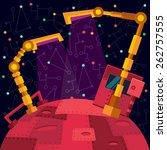robots planet. this vector... | Shutterstock .eps vector #262757555