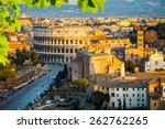 view on colosseum in rome  italy | Shutterstock . vector #262762265
