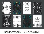 set of geometric flyers ... | Shutterstock .eps vector #262769861