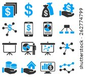 bank service and business icons.... | Shutterstock .eps vector #262774799