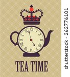 Retro Tea Time In London Poster