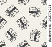 birthday presents doodle... | Shutterstock .eps vector #262776221