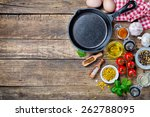 ingredients for cooking and... | Shutterstock . vector #262788095